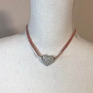 Sparkly Heart Rhinestone Necklace